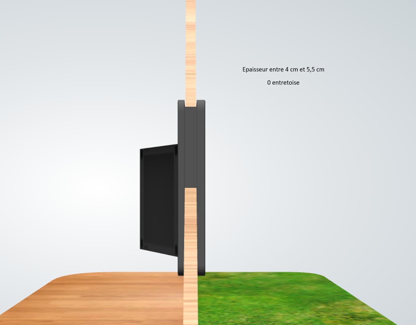 porte automatique odomestic entretoise épaisseur entre 4 cm et 5.5 cm