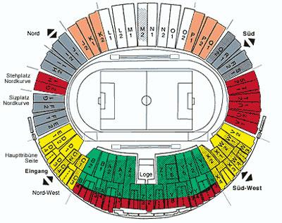 Ticketplan Olympiastadion München