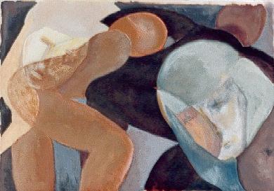 """""""Spiegelung"""", MT a. Papier, 70 x 100, Kat.-Nr. 00041"""