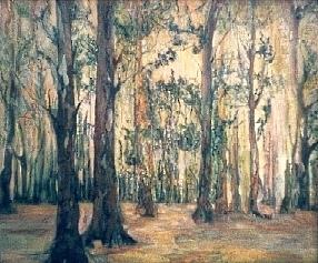 """""""Wald"""", Öl auf Leinw.,  60 x 50, Kat.-Nr. 00058"""