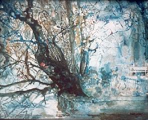 """""""Moerser Schlosspark"""", Öl a. Leinw., 60 x 50, Kat.-Nr. 00078"""
