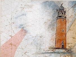 """""""LT Texel"""", MT auf Seekarte, 60 x 50, Kat.-Nr. 00163"""