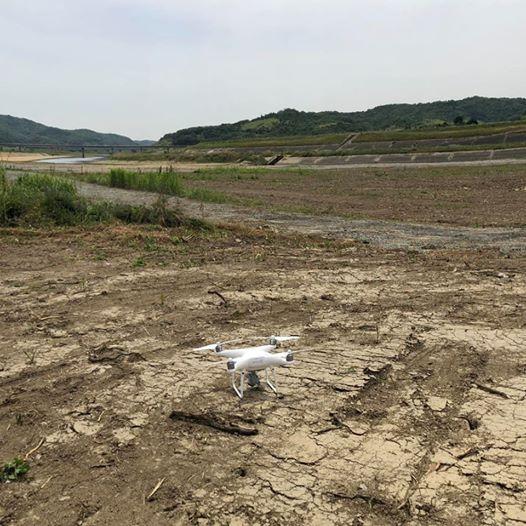 岡山県真備町のドローン空撮は本日完了です