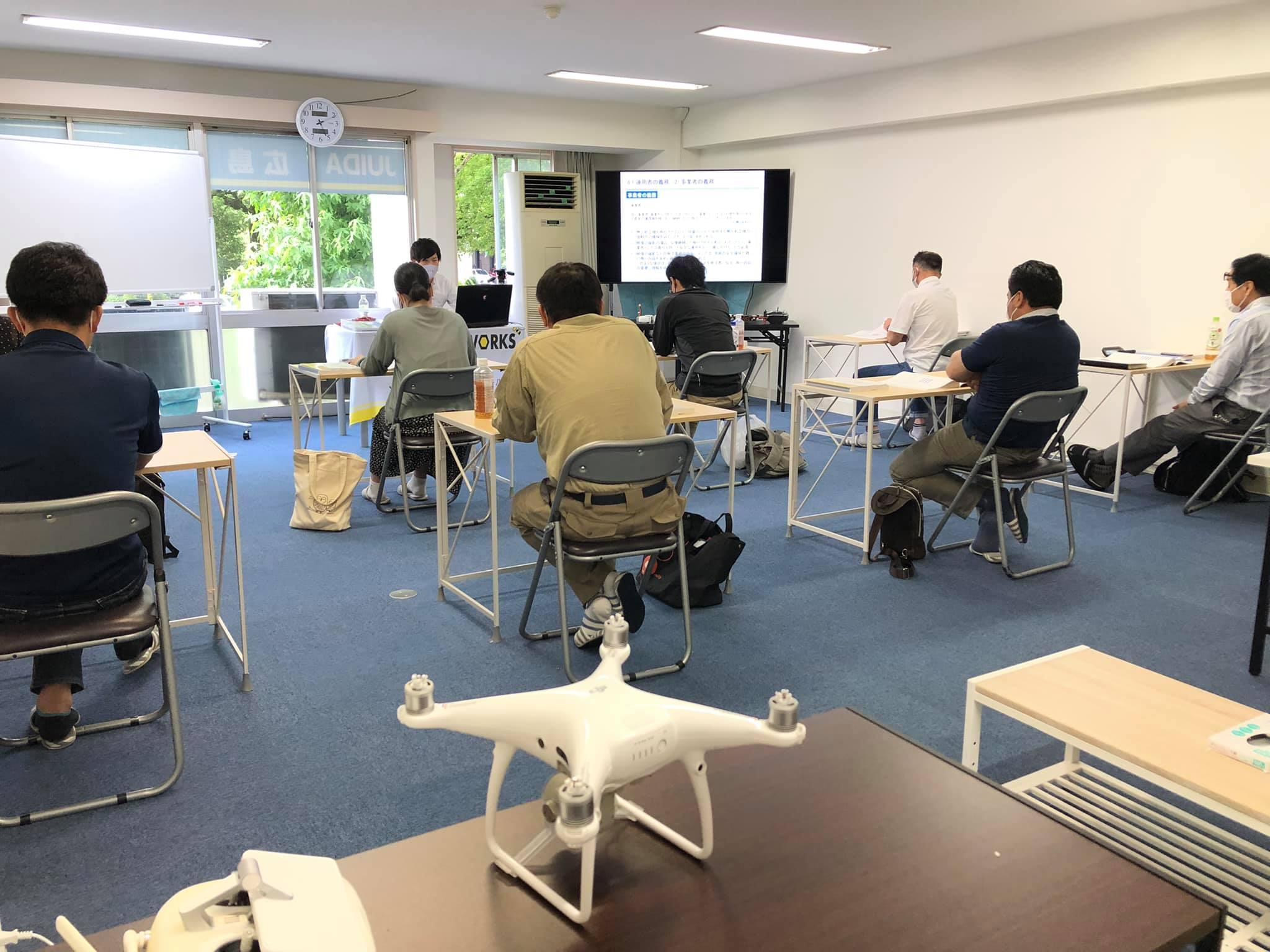 JUIDA広島ドローンスクール7月開催です。