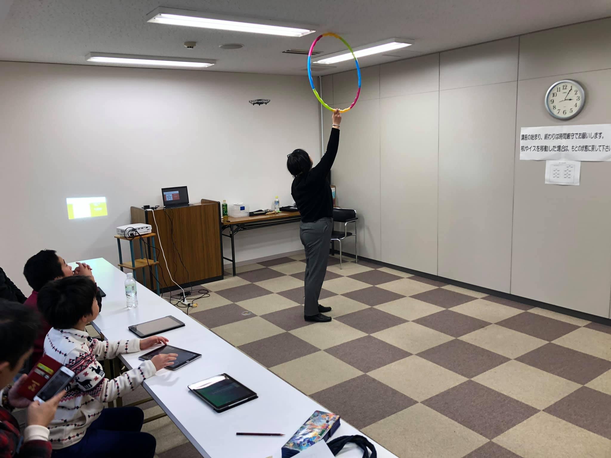 親子ドローンプログラミング in 広島リビング