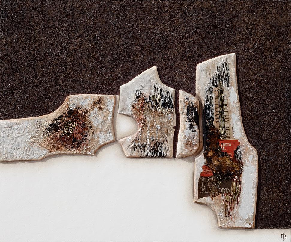 Marina Battistella -  Senza titolo - cm 100 x 120 - tecnica mista su tela