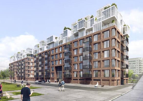 transformatie van 4 kantoor panden naar 2 appartementen complexen