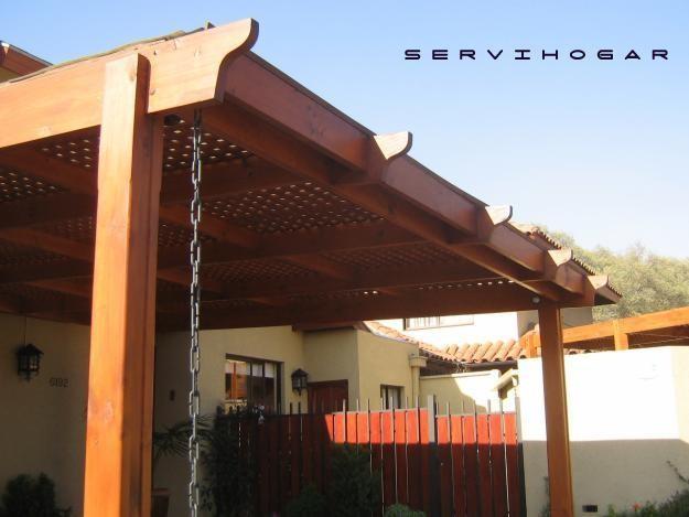 Galer a fotogr fica servihogar for Cobertizo de madera para terraza