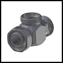 T-Stück für Ring und Düse  (2-WV-R-2K)
