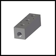 """Verteilerblock 3x G1/8""""  (VB-3-18)"""