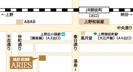上野アリエス地図