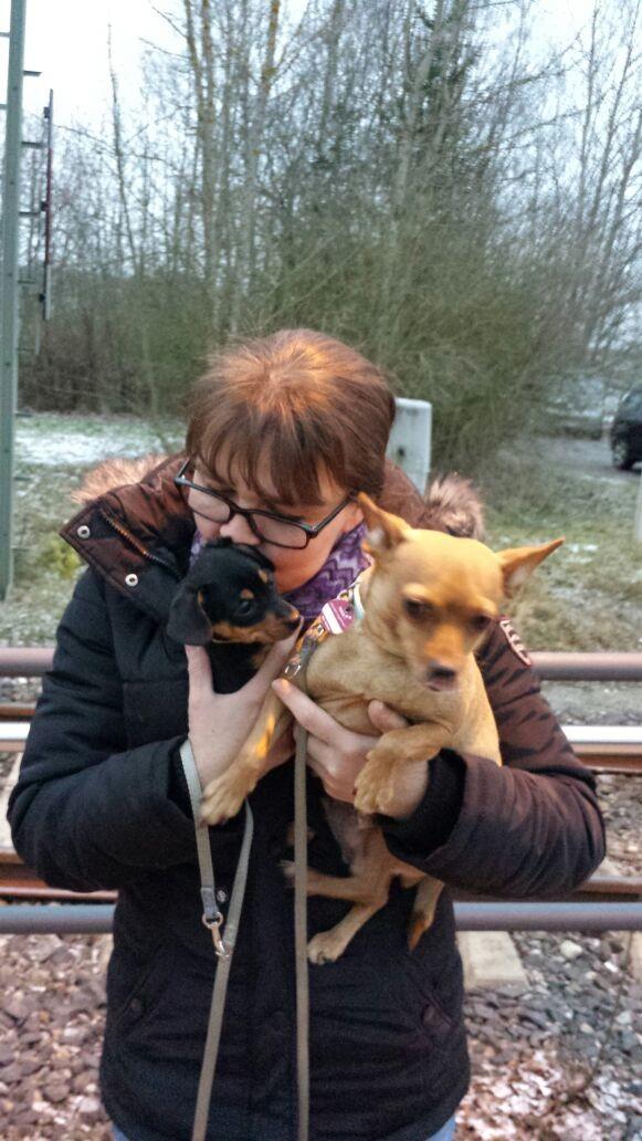 Petra + Molly verabschieden sich von Elsi :/