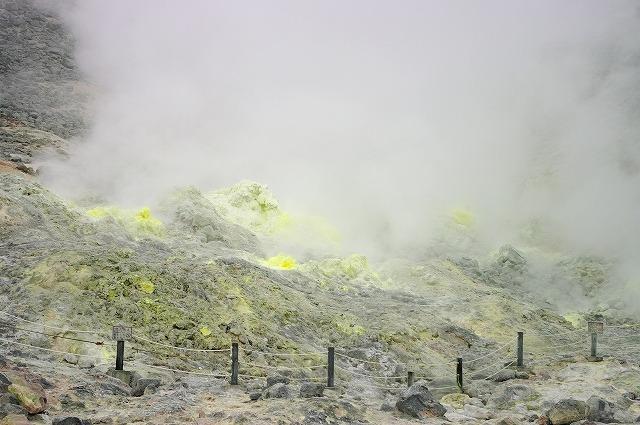 北海道に硫黄山というのがあるのを初めて知りました。