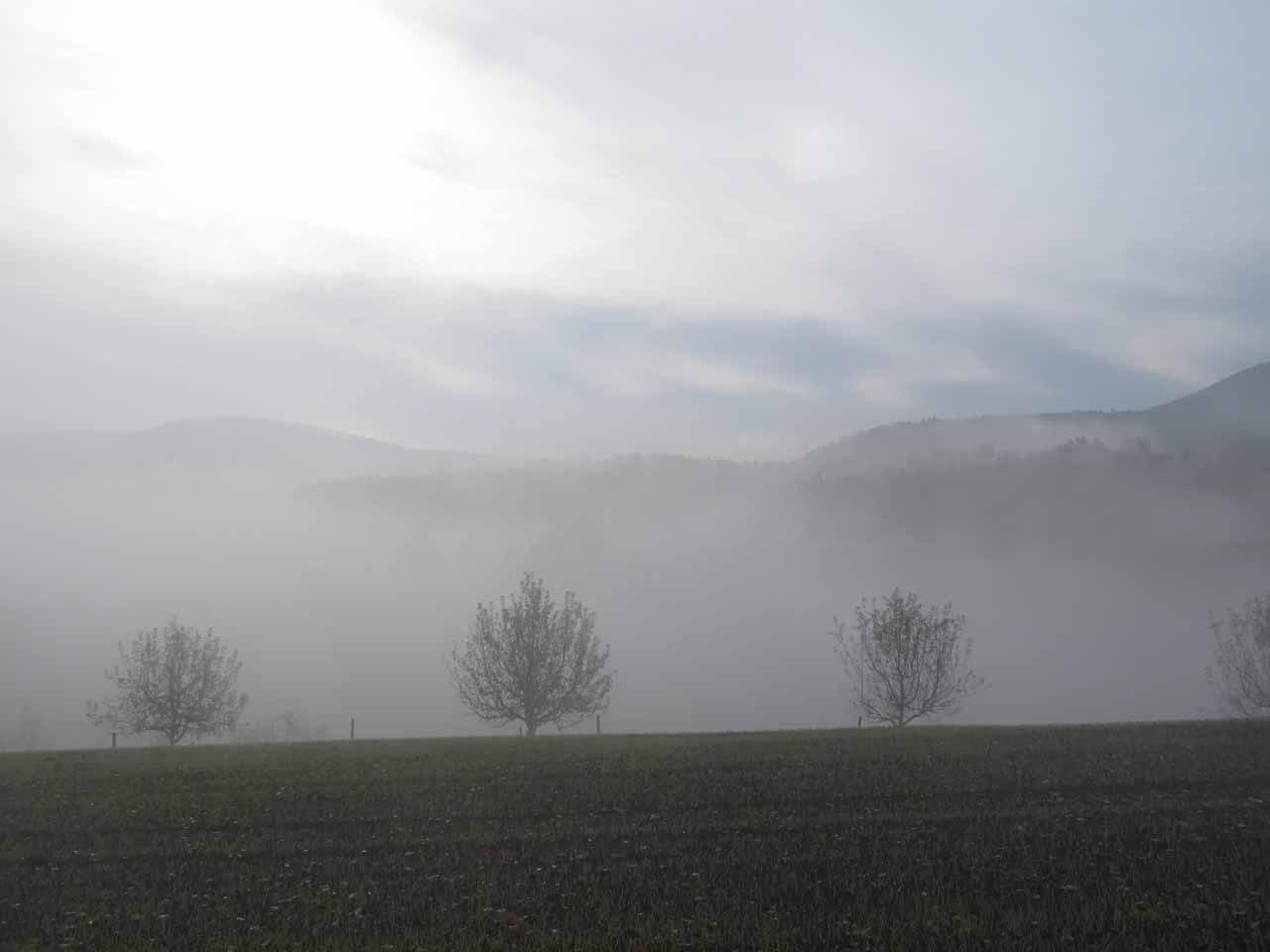 Wunderschöne Morgenstimmung im Jurapark Aargau