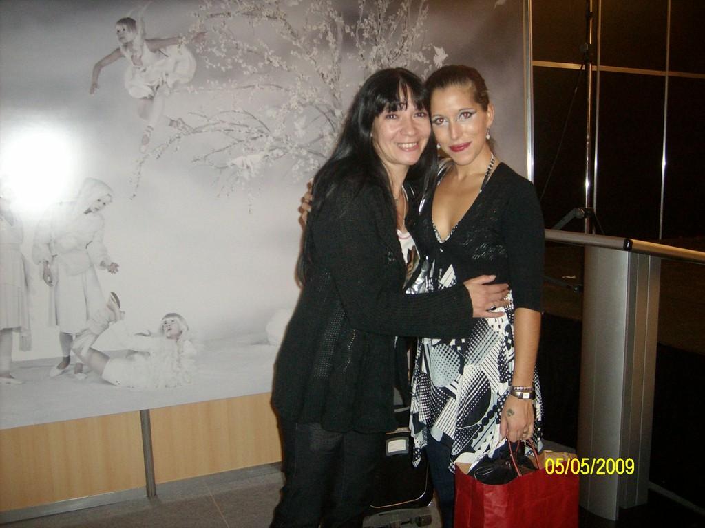 Con La gran Maestra Yael