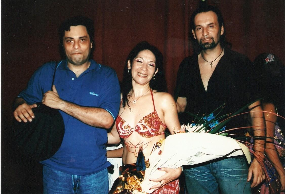 Con Fabian y Fabio,dos derbakistas de lujo