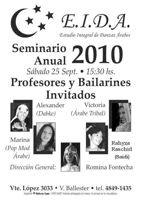 Seminario 2010 en el Estudio de Danzas Àrabes de Romina Fontechia