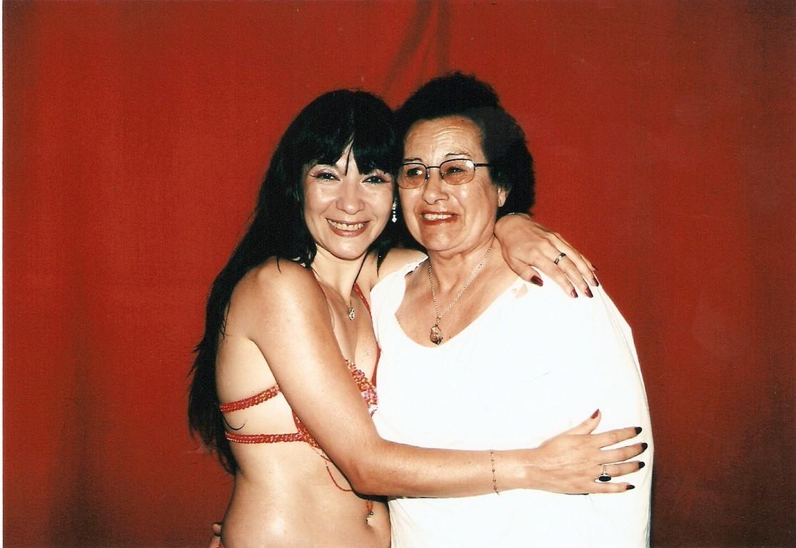 Con la abuela Rosa
