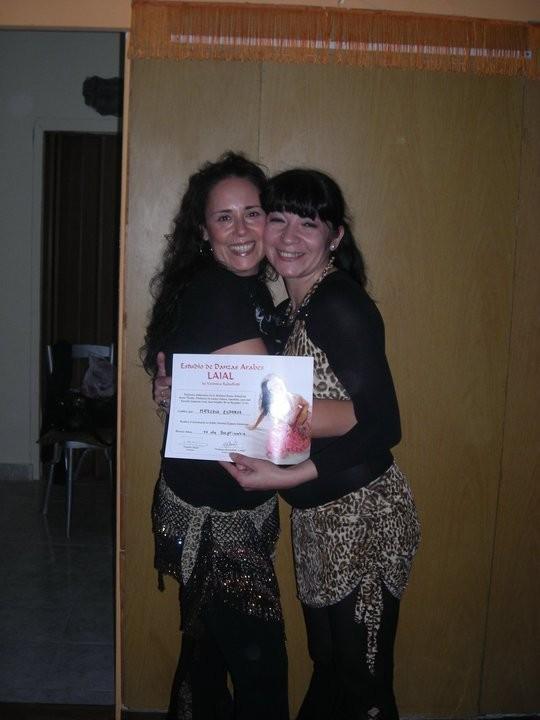 Junto a la Bailarina Internacional Tasnim Masi