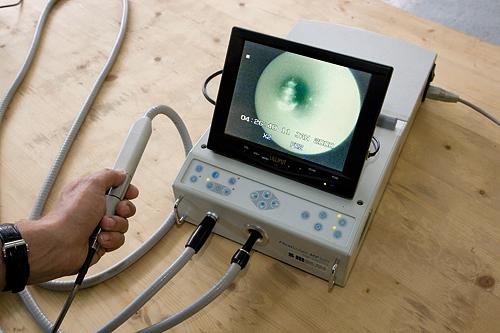 Leckortung mit Rohrendoskop