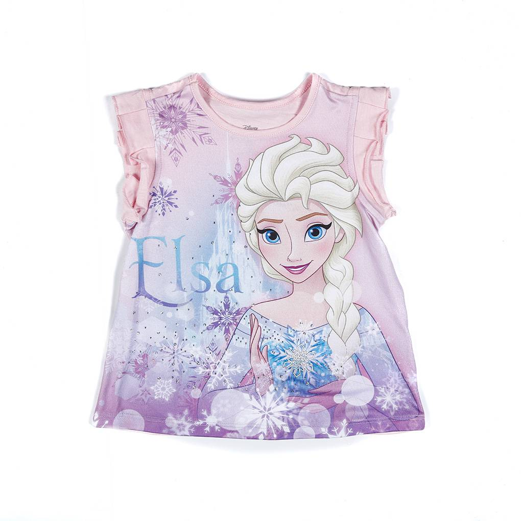 Camiseta rosa niña Frozen               Tallas: 2         Precio: $13,00
