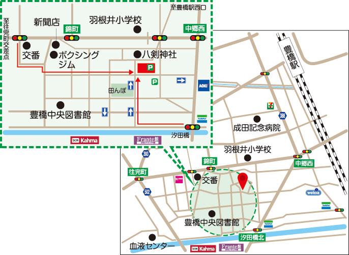 豊橋 池田整体 地図