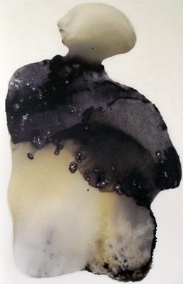 Der Stratege, 110 x 167 cm, Schellack, Klavierlack auf Acryl, 2016
