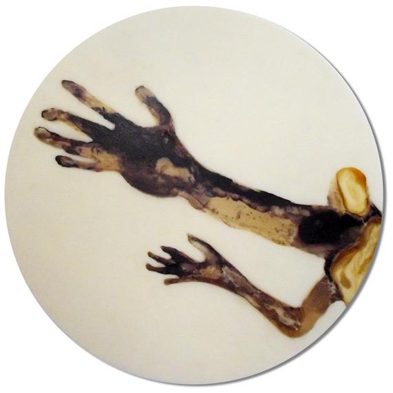 Fänger - Lack auf Acryl - Durchmesser 62cm - 2013