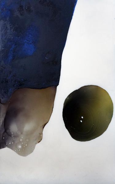 Kleiner Jockey, 110 x 167 cm, Schellack, Klavierlack auf Acryl, 2016