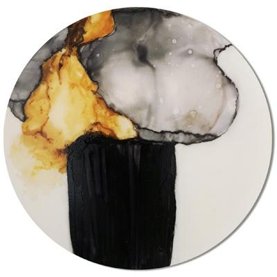 9/11 - Lack auf Acryl - Durchmesser 47cm - 2013
