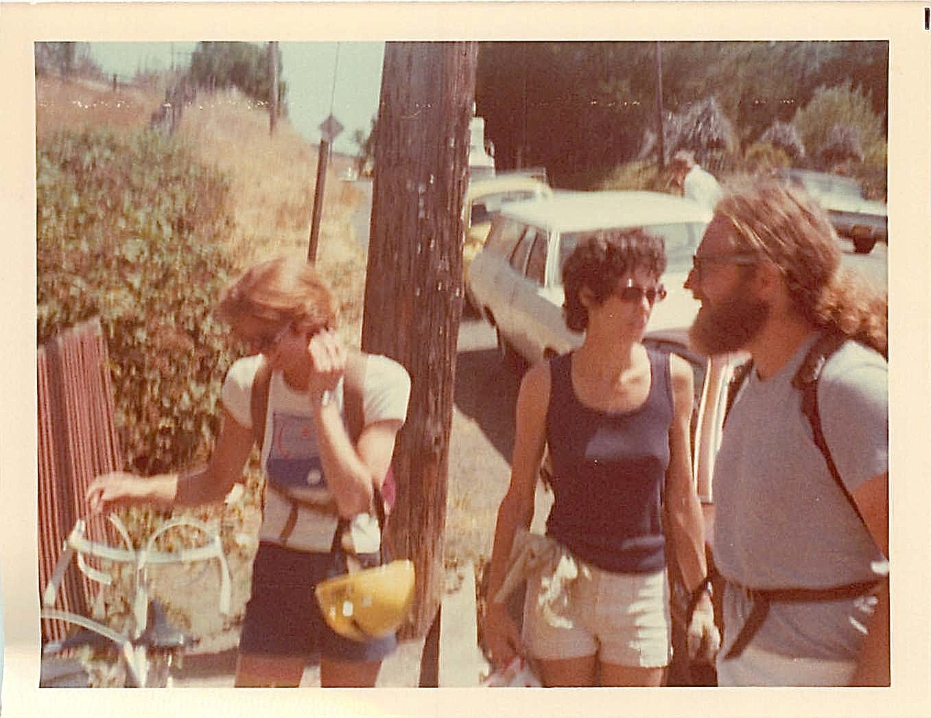 Janet Ring, Barbara Levinson, Bob Bishop  Aug. 1977 bike trip