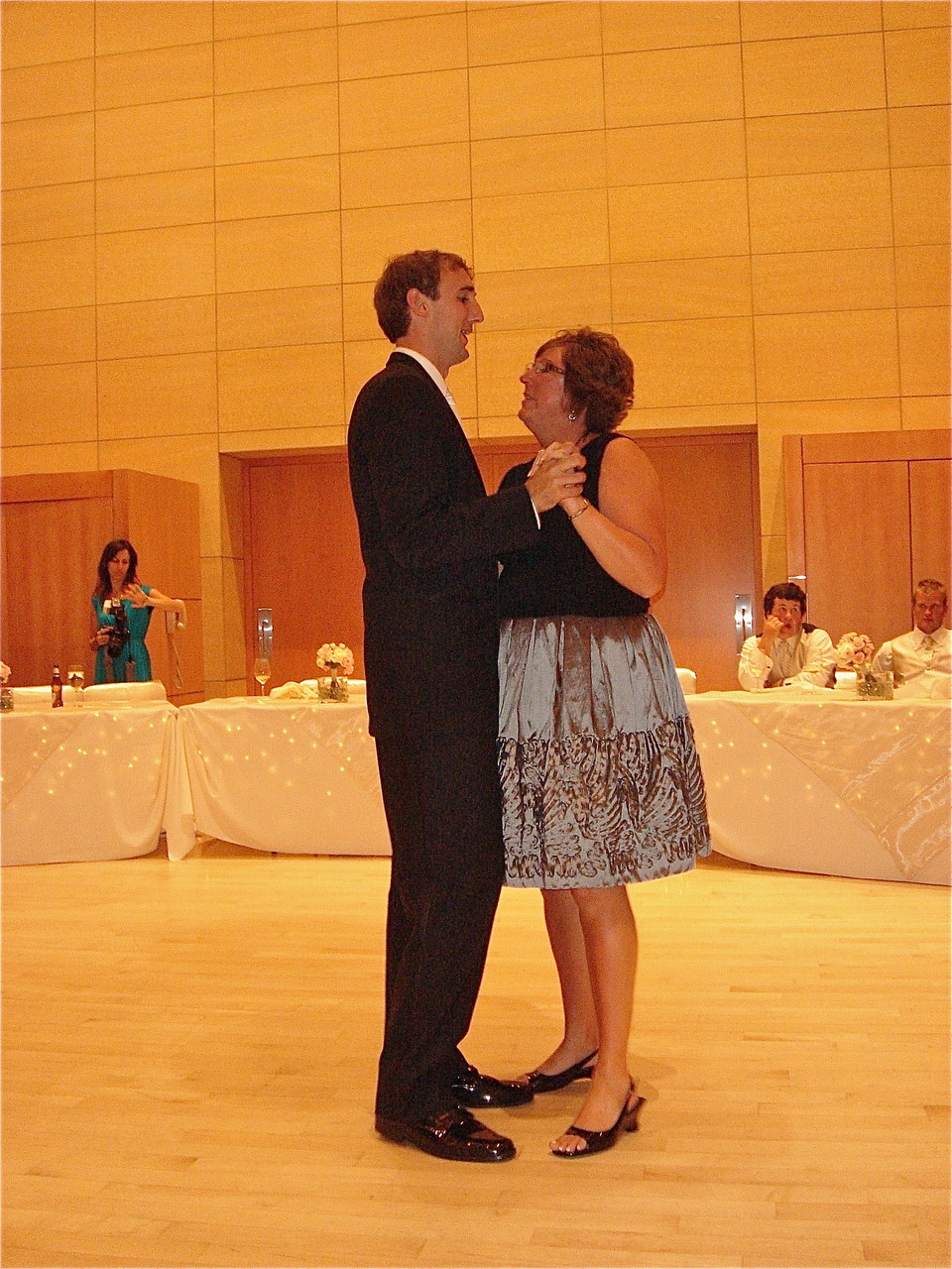 Jill dances with her son, Nick