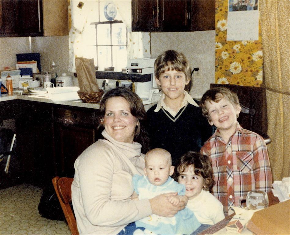 Carol, Bud's daughter, with Jim, Mike, Meghann, & Erin 1970s