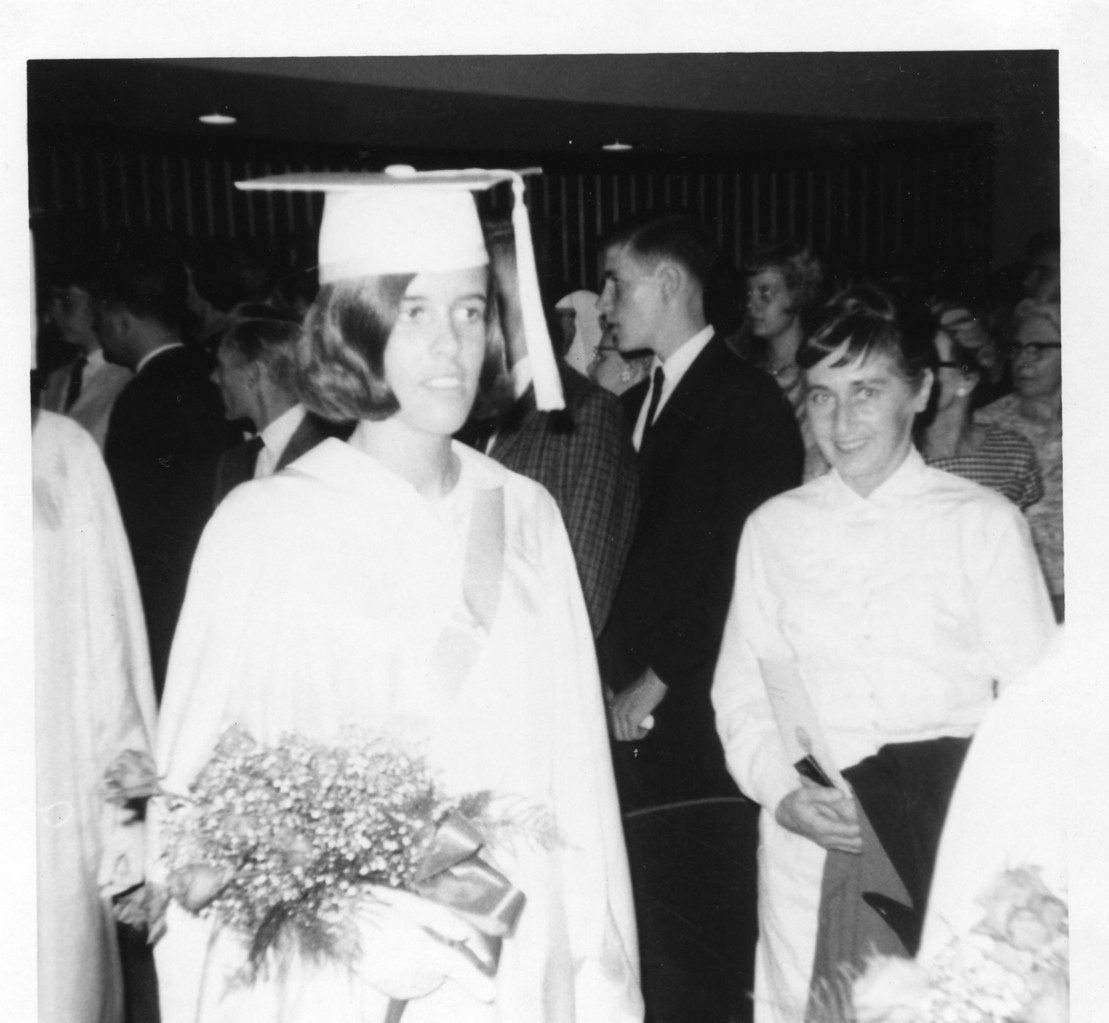 Nancy Hynes, Graduation, Convent School, 1966