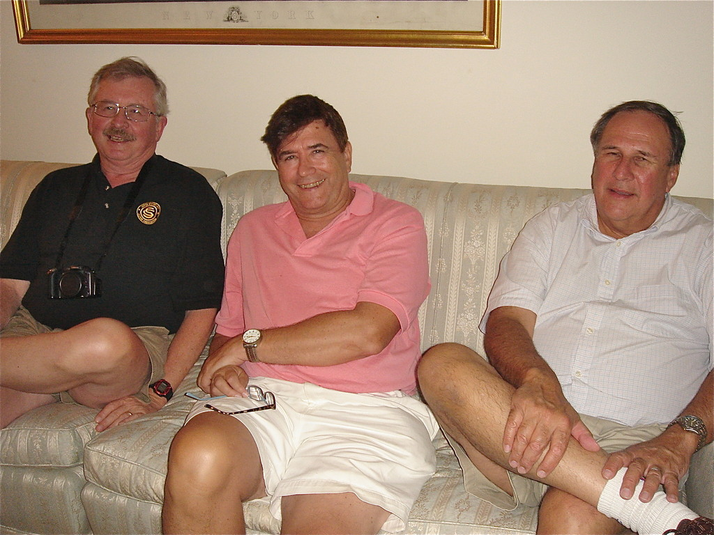 Butch, John, and Fred after a steak dinner!