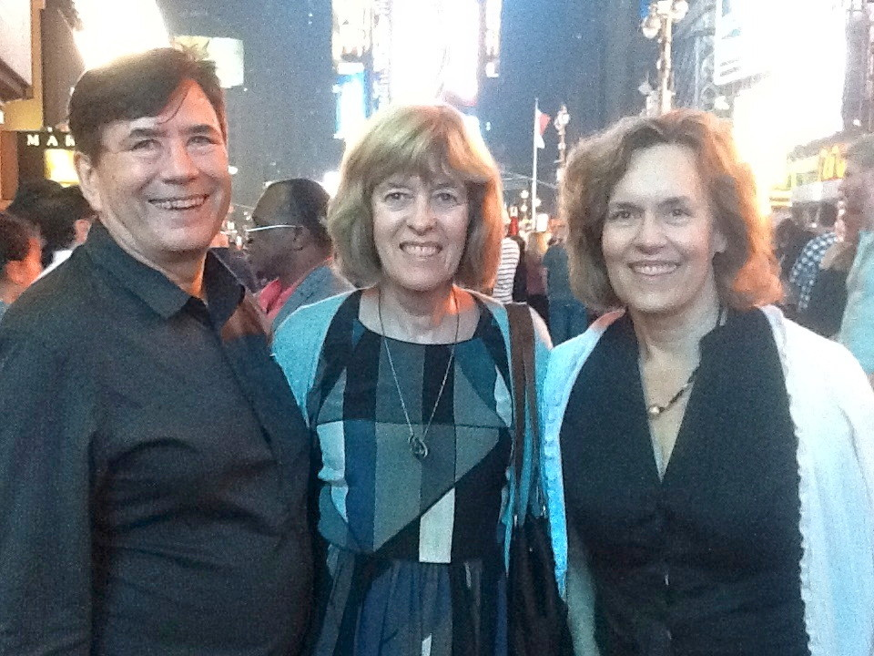 John, Nancy & Lorraine in Times Square after seeing KINKY BOOTS