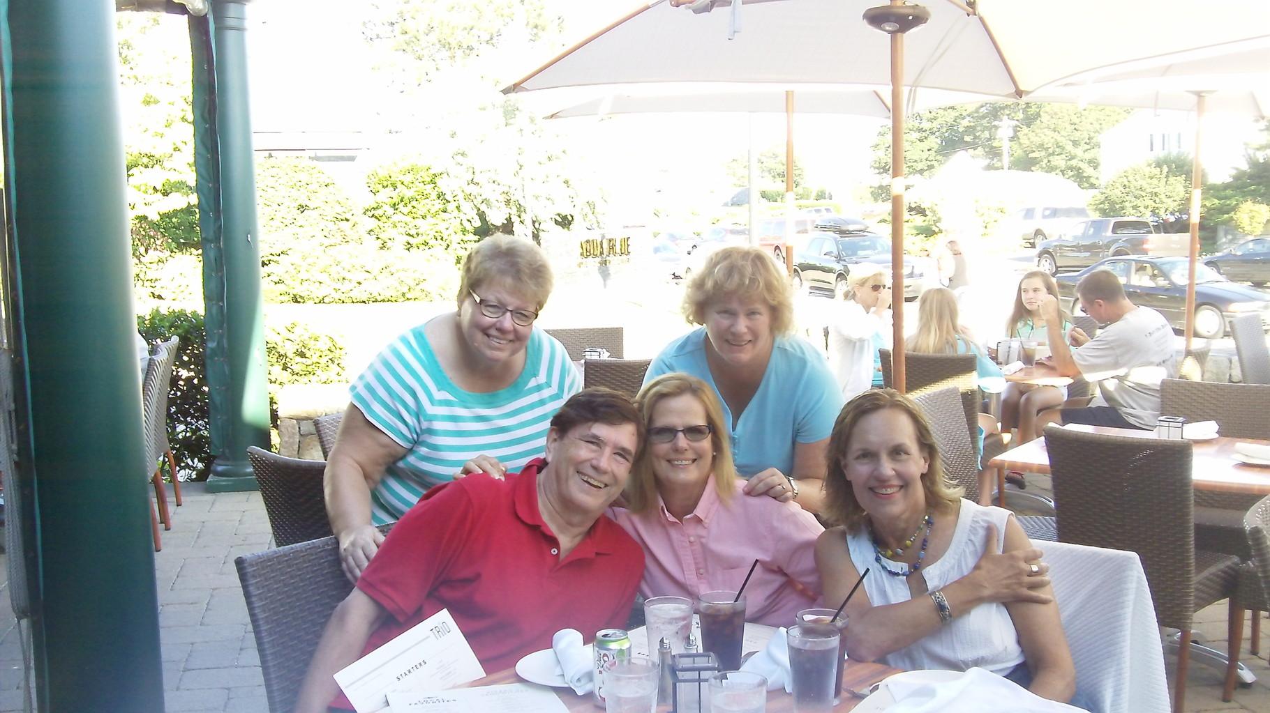 Margaret, John, Carol, Jane & Lorraine   The Cousins at Narragansett, Aug. 2015
