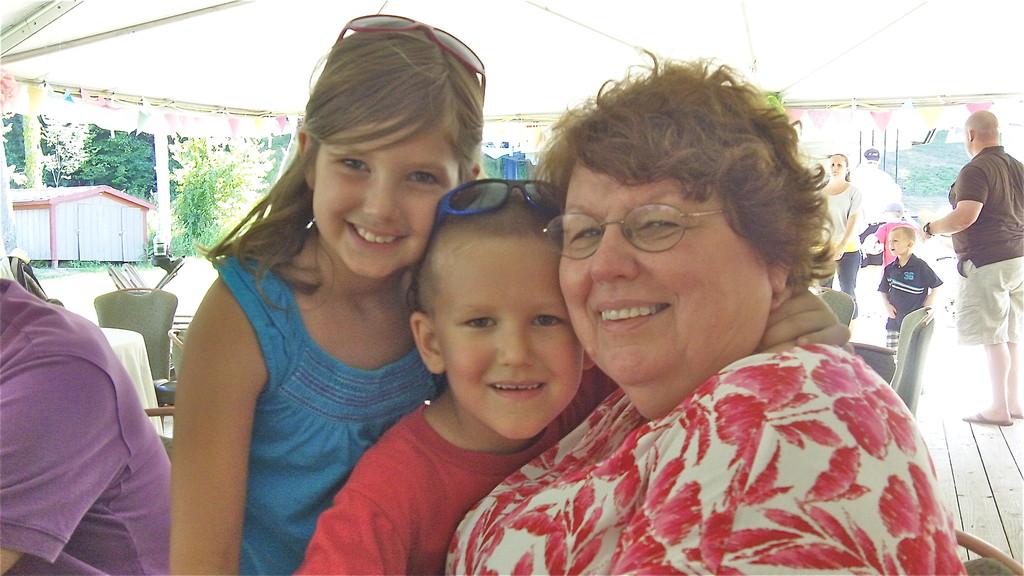 Reagan & Braden (Jim's children) & grandmother Margaret