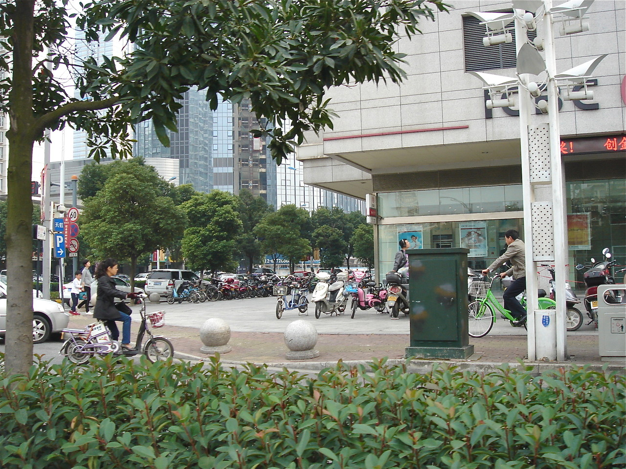 Motor bikes have replaced regular bikes, Suzhou