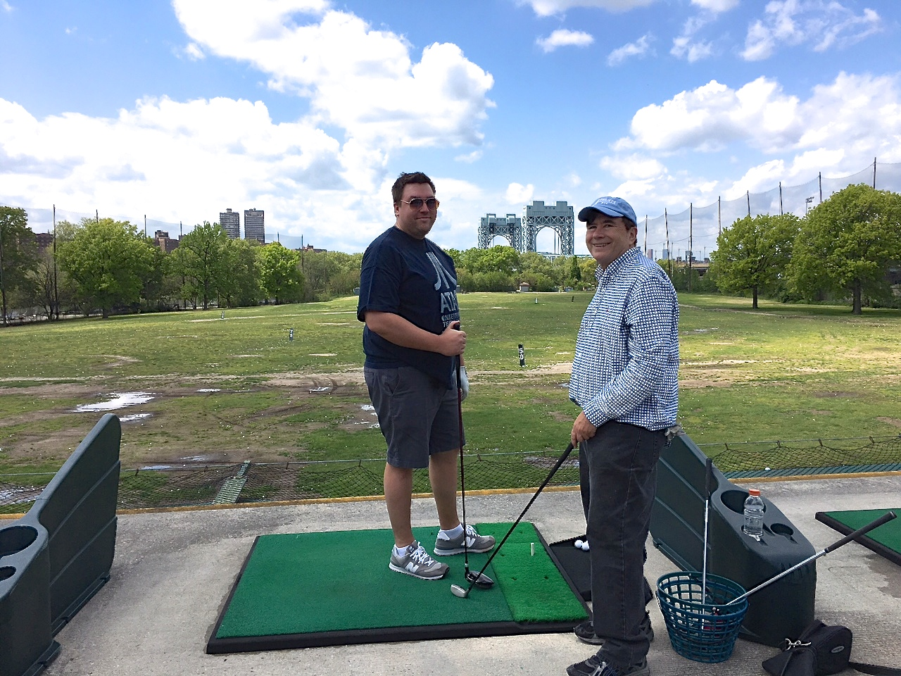 Greg & John, Mother's Day, 2017, Randall's Island golf