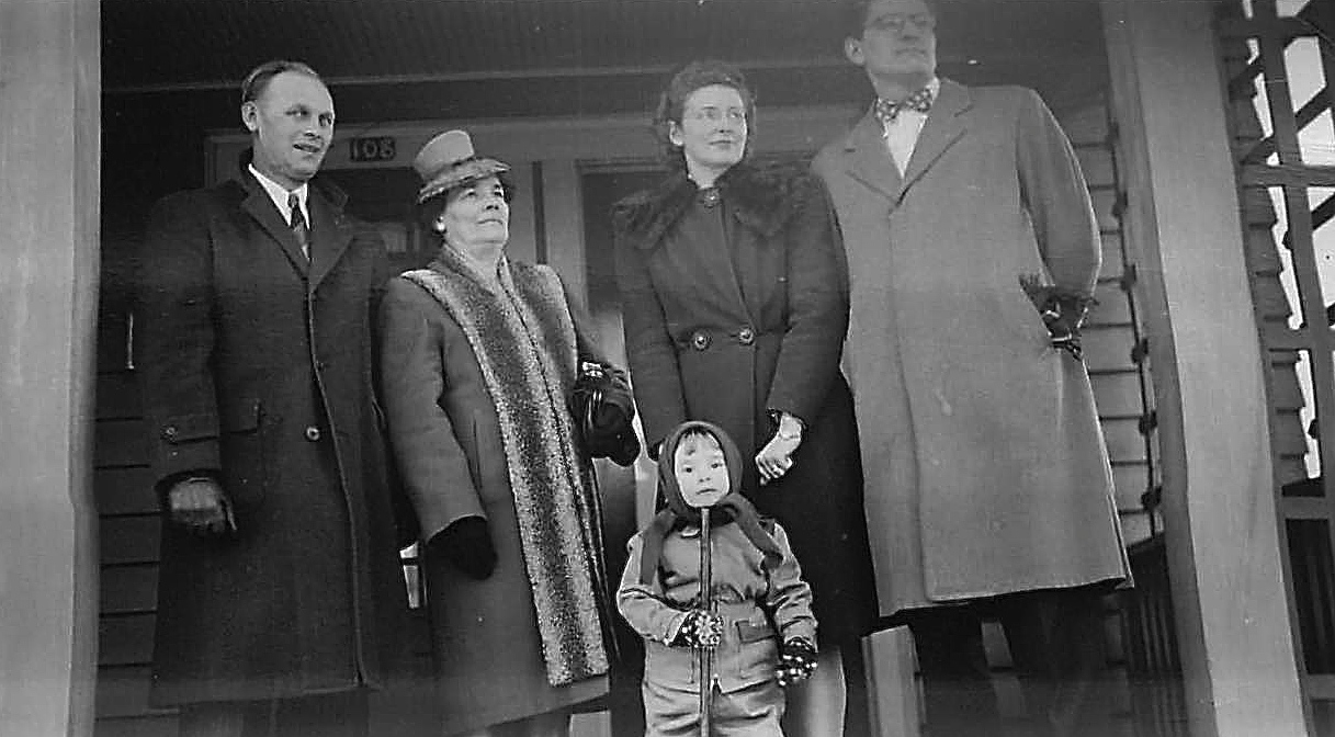 Stanley Baldyga, Stephanie, Opal & Ray, Susan Baldyga ~ 1950?