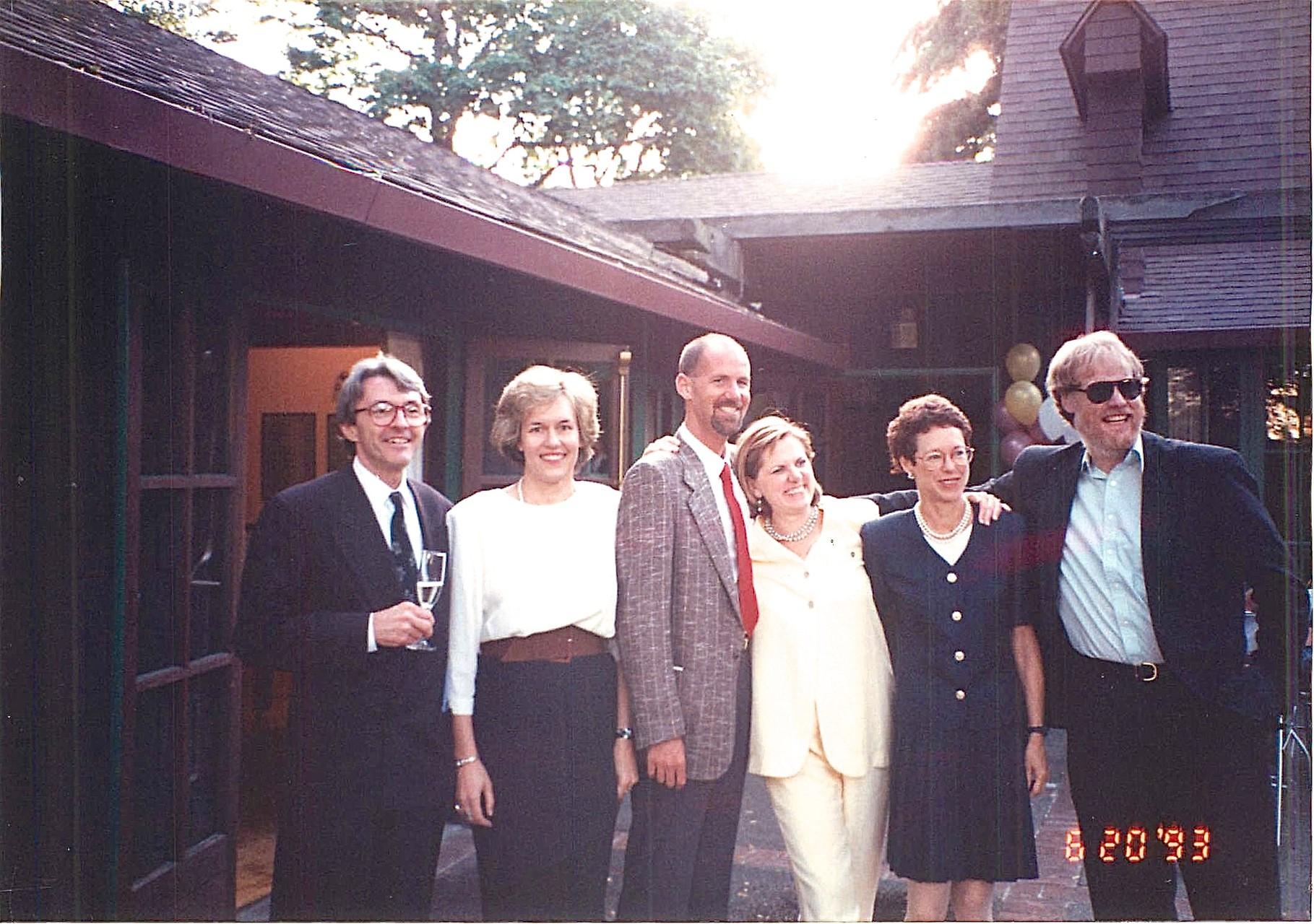 1993 CA, Dave Martin, Lorraine Gudas, Steve, Shirley Clift, Barbara Levinson, Buddy Ullman: lab reunion