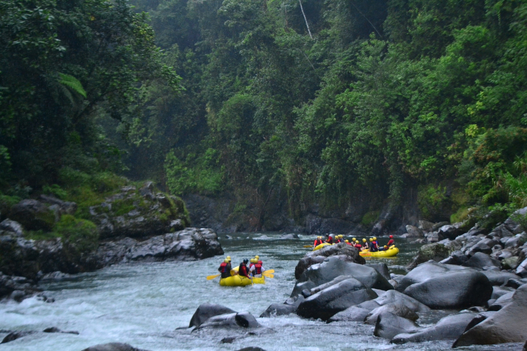 The Pacuare River runs through the Costa Rican rain forest