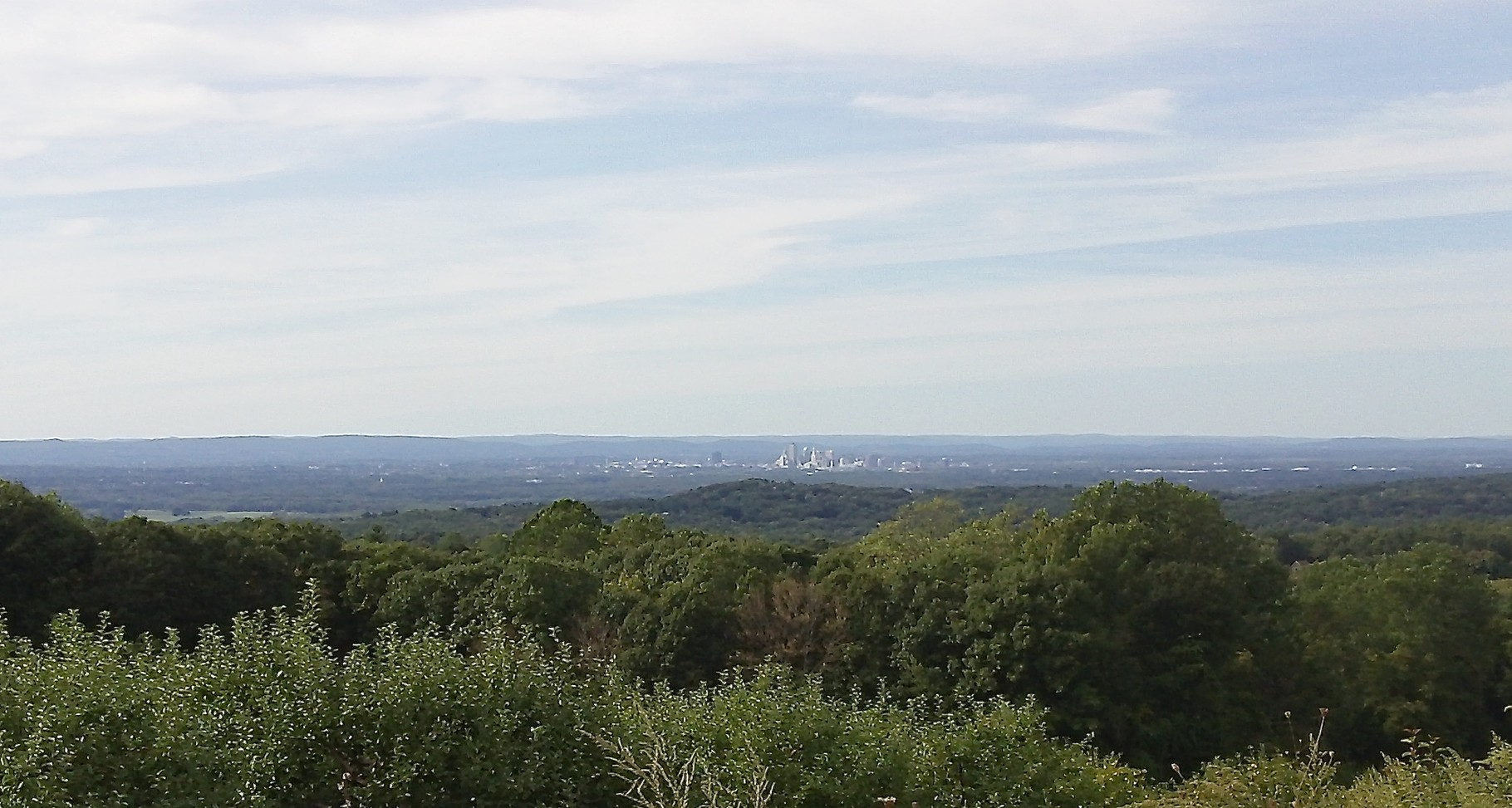 Hartford in the distance