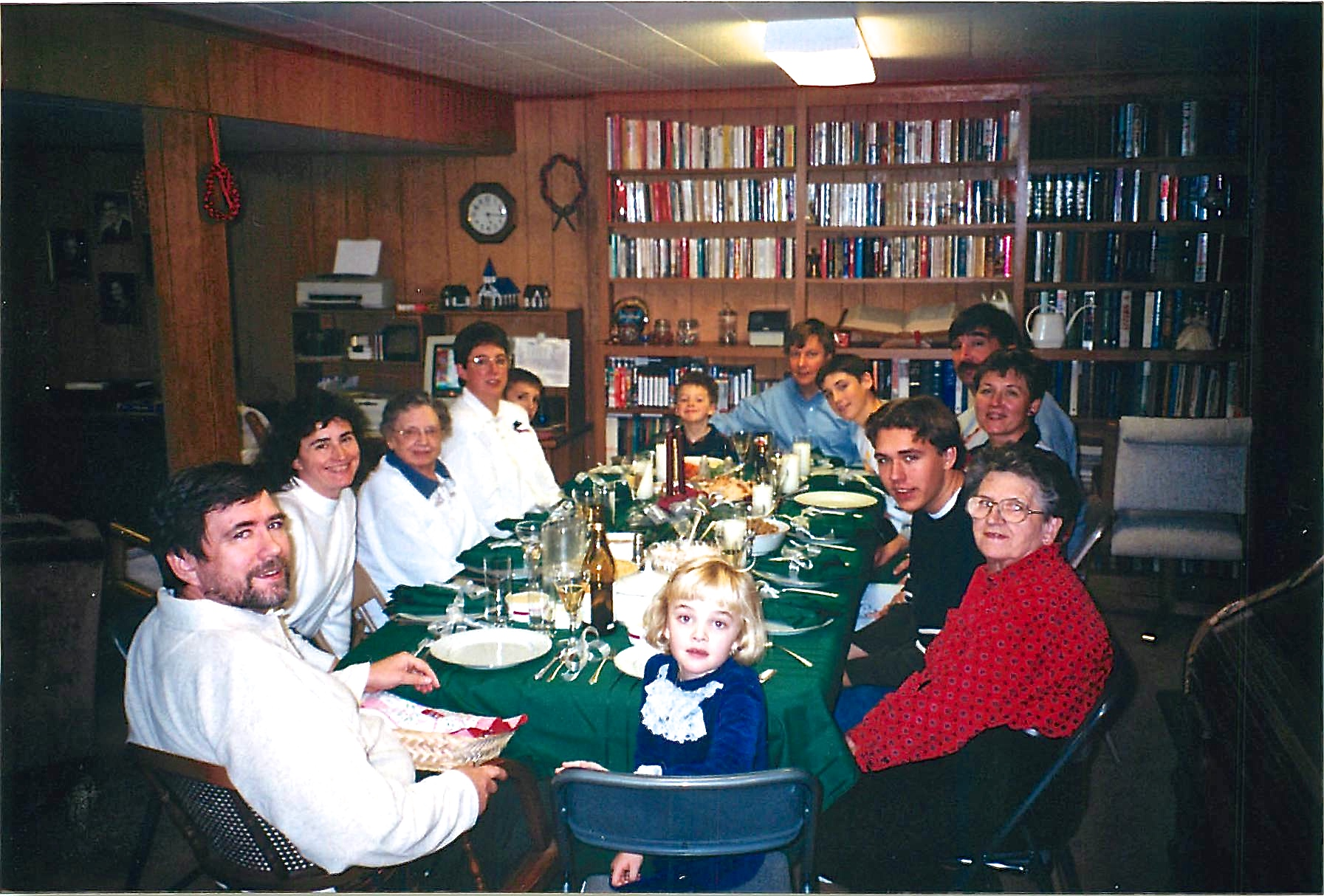John, Ann, Helen, Jill, Nick, Ben, John, Jason, Paul, Cindy, Greg, Mary Lou & Kathleen 1998 Xmas Dubuque, Iowa