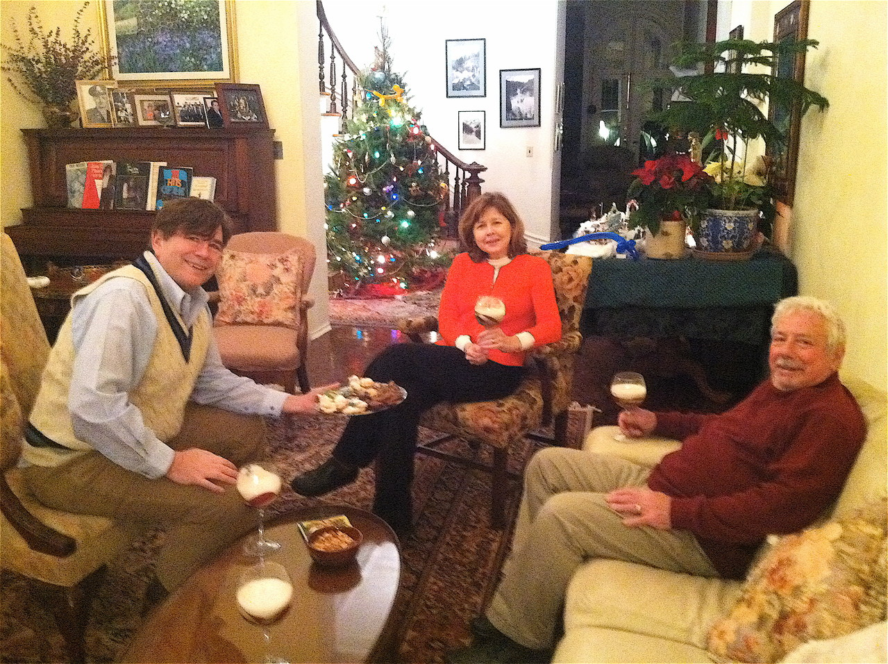 Bringing in the New Year, 2013 - John, Barbara, and Don