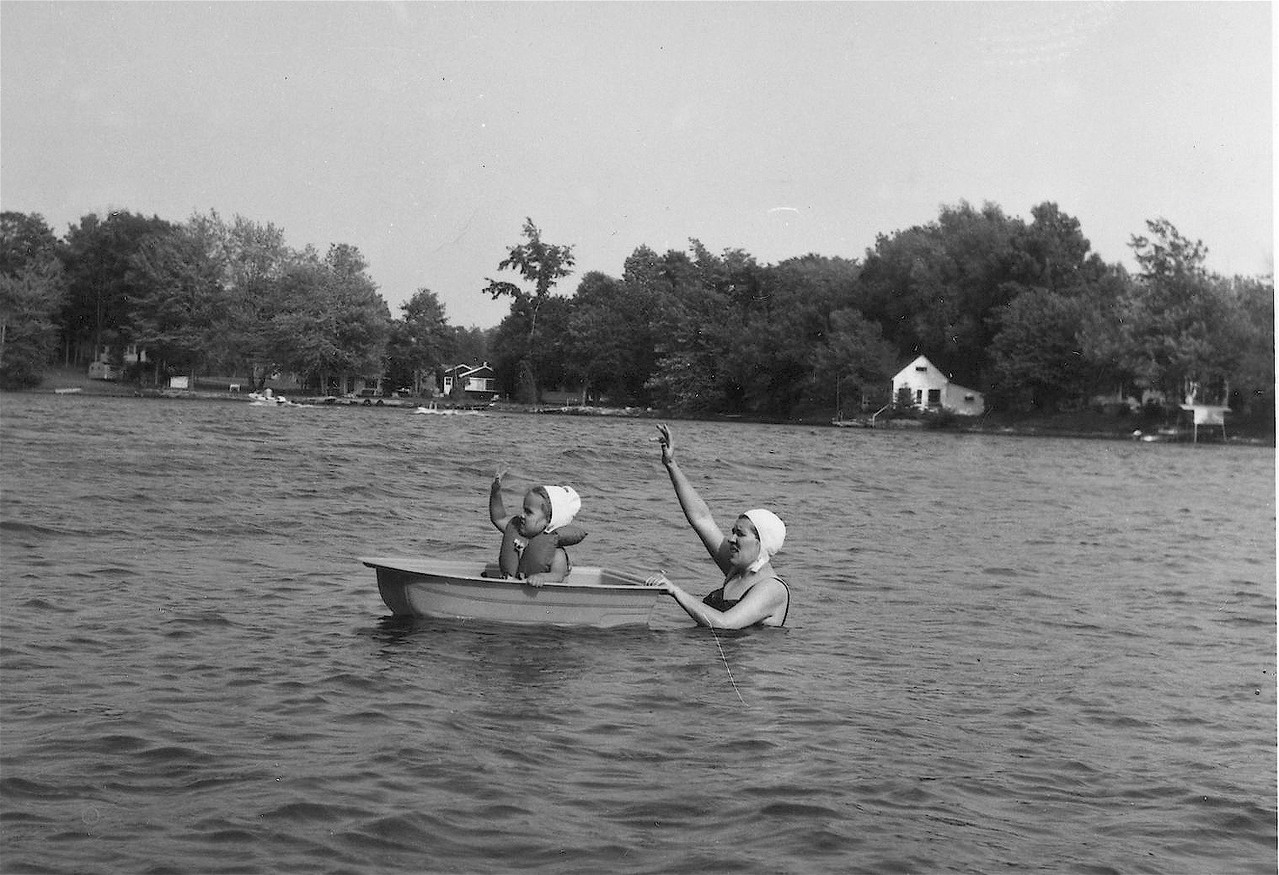Celeste & Eleanor, Tuscarora Lake, 1960