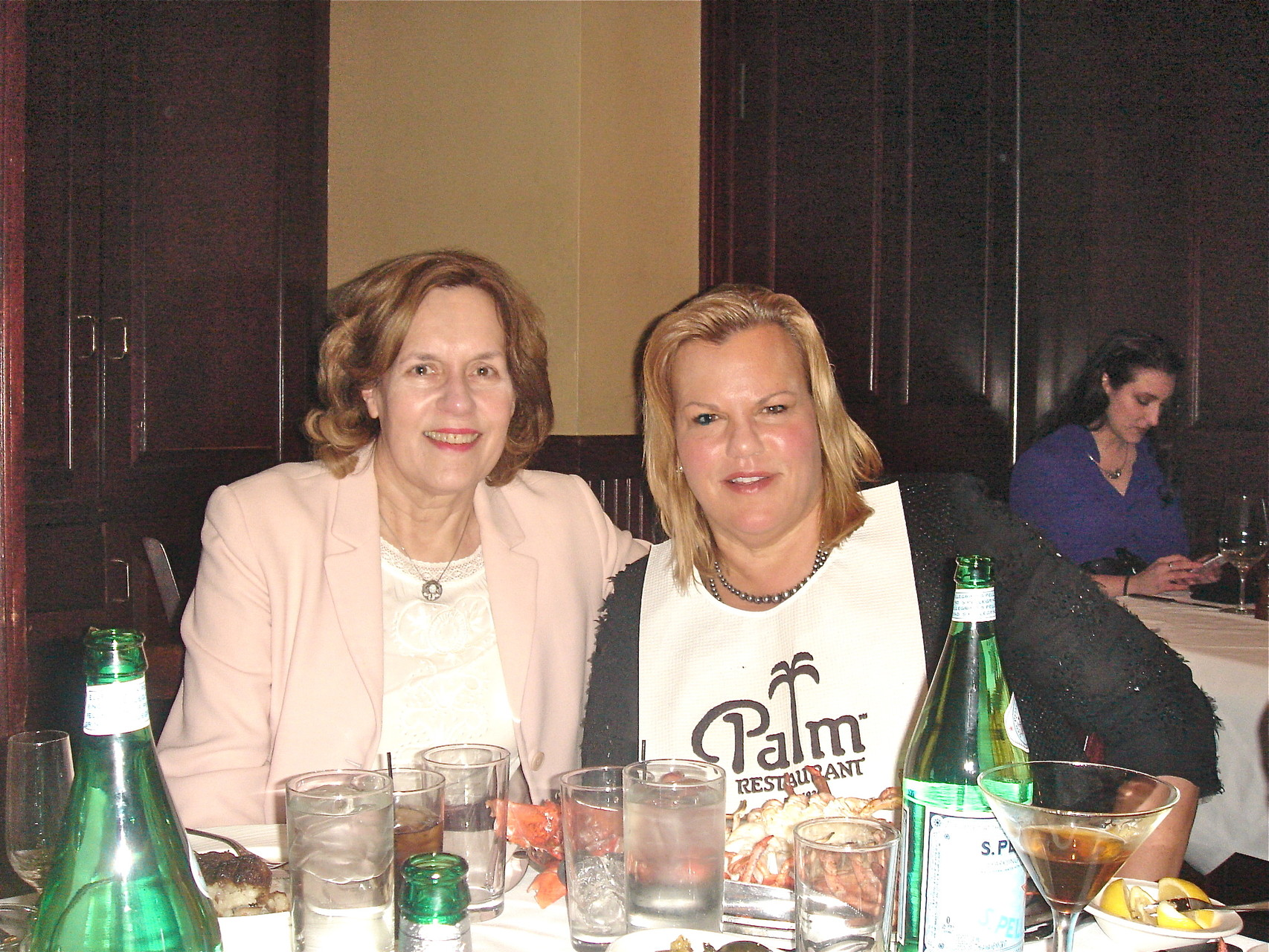 Lorraine & Celeste at dinner, 2-28-15