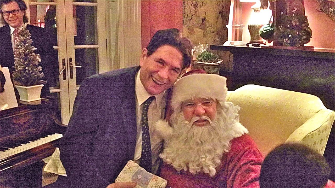 John Wagner & Santa, Dec. 20, 2013