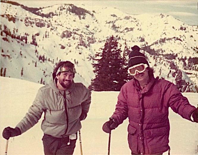 Squaw Valley ski trip, March, 1980, John Wagner & Steve Carlson